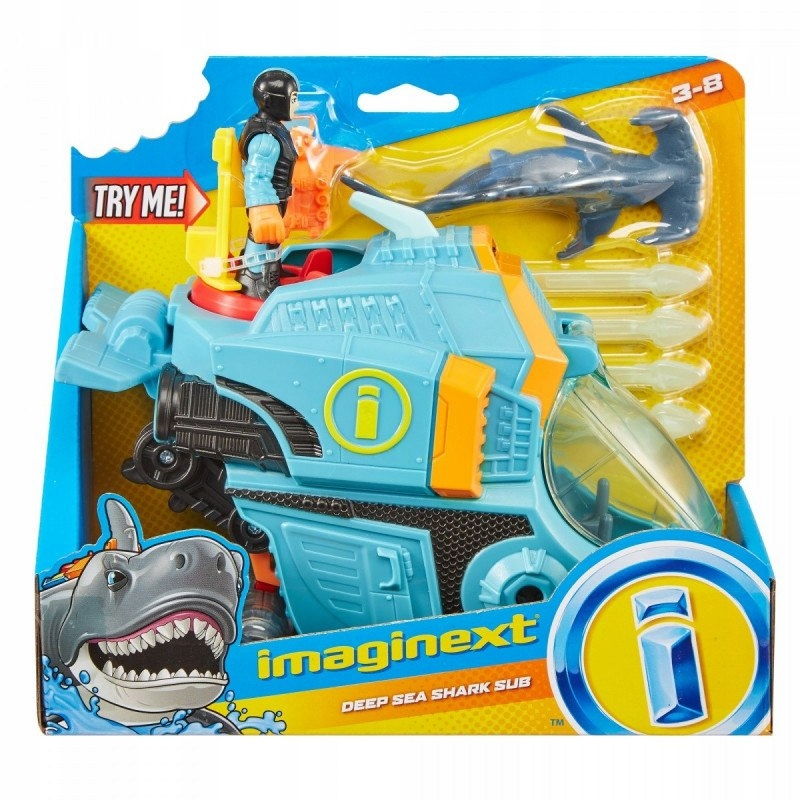 Figurka podwodny rekin głębinowy Imaginext zestaw