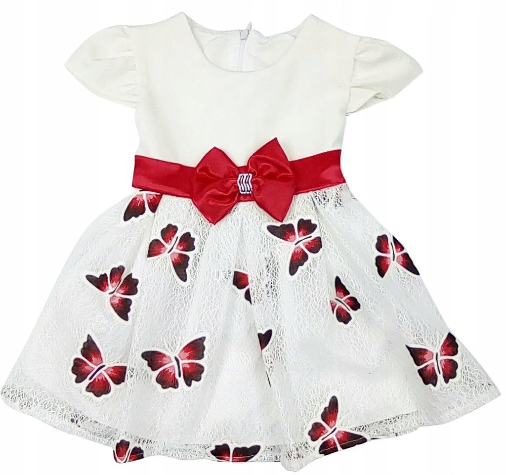 HIT elegancka sukieneczka wizytowa ROSE r.98