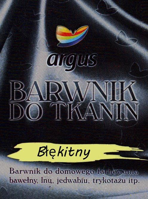 Barwnik do tkanin Argus do gotowania BŁĘKITNY