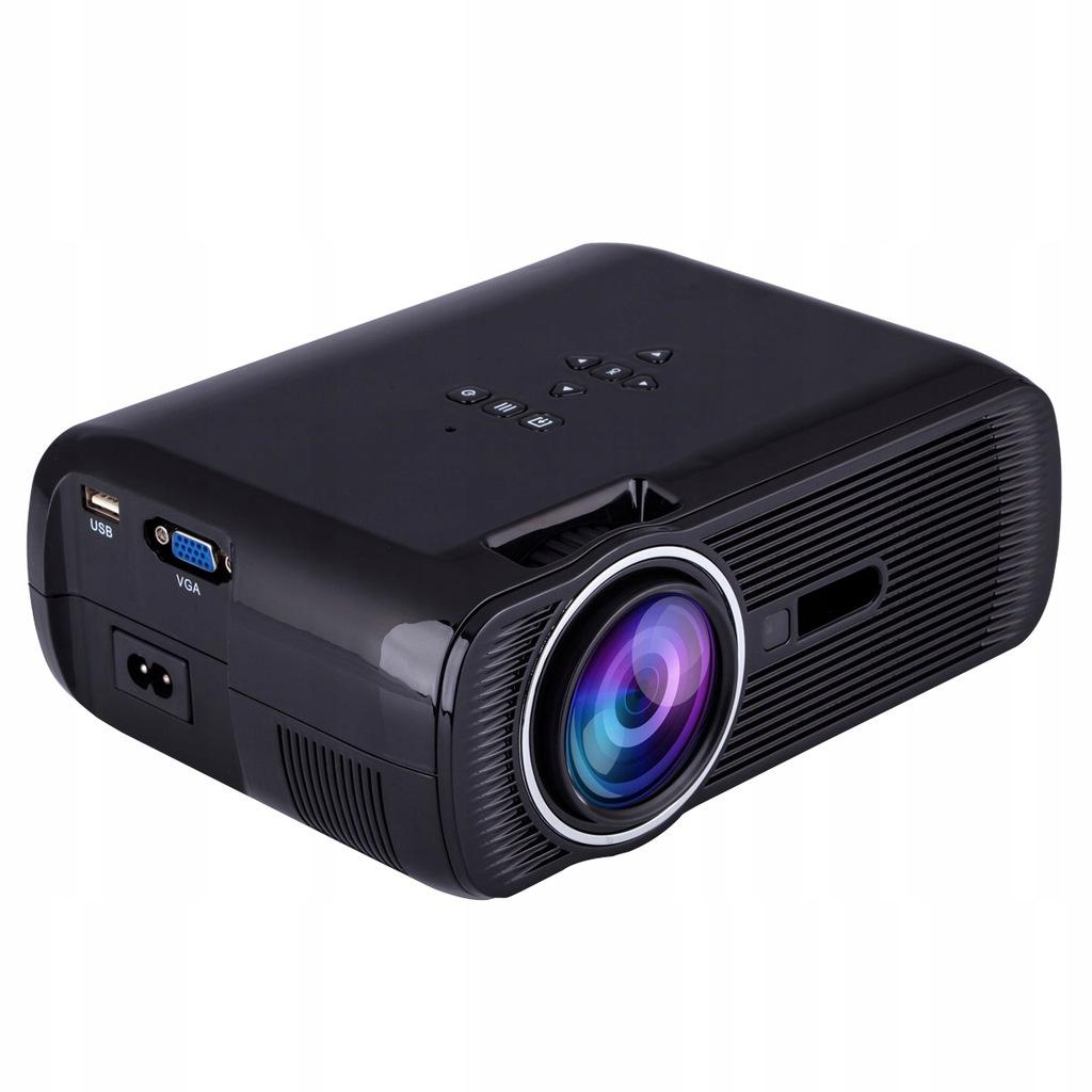 U80 1000 lumenów 1080P Mini Przenośny projektor LE