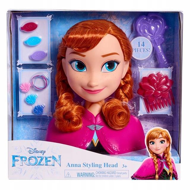 Głowa do stylizacji Anna Kraina Lodu Frozen