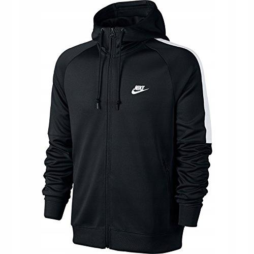 Nike Bluza męska rozpinana suwak kaptur CZARNA M