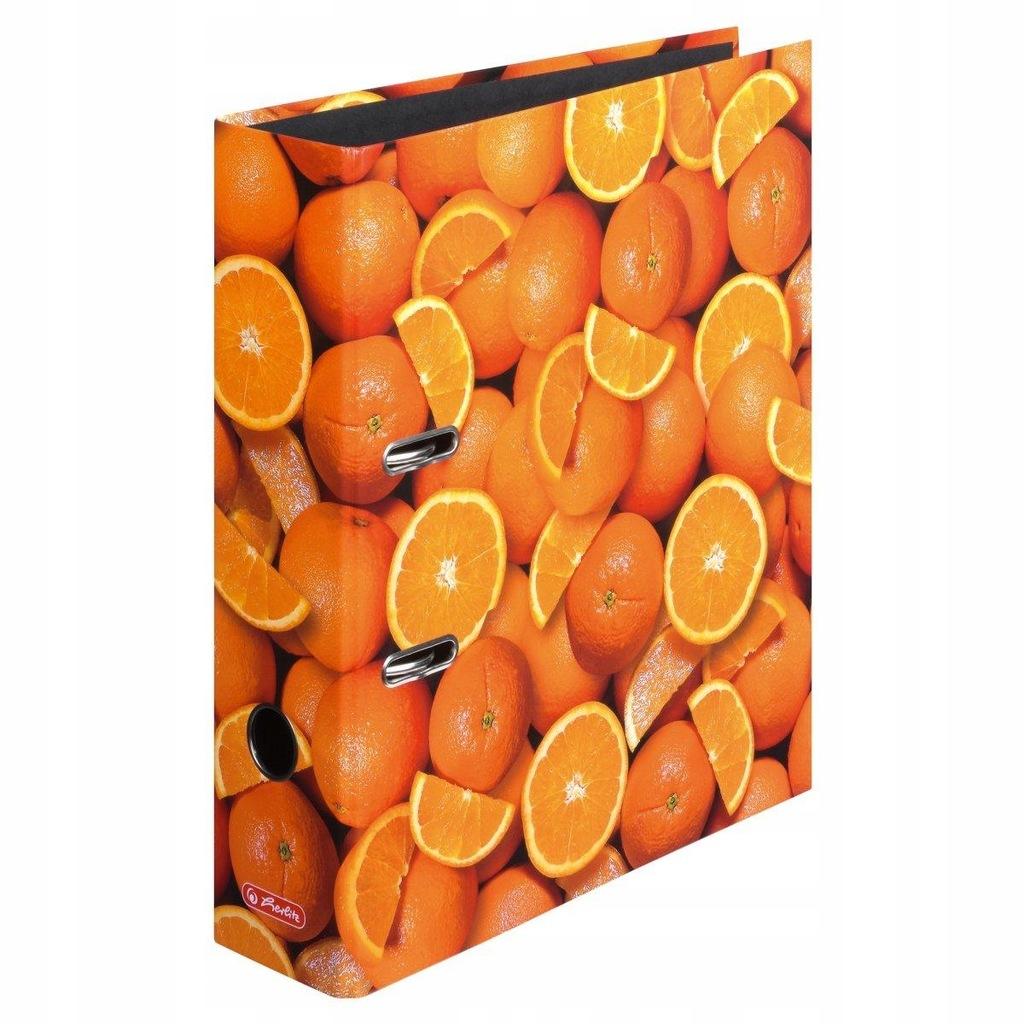 Segregator A4 8cm Pomarańcze max. file