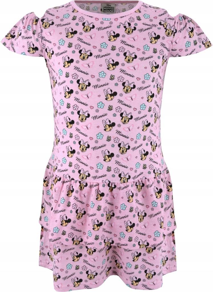 Sukienka Myszka Minnie letnia różowa 104