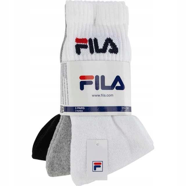 Skarpety FILA tenis socks 3 pary białe czarne 3