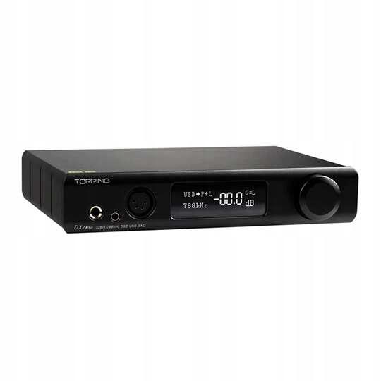 Topping Audio DX7 PRO Wzmacniacz SłuchawkowyCzarny