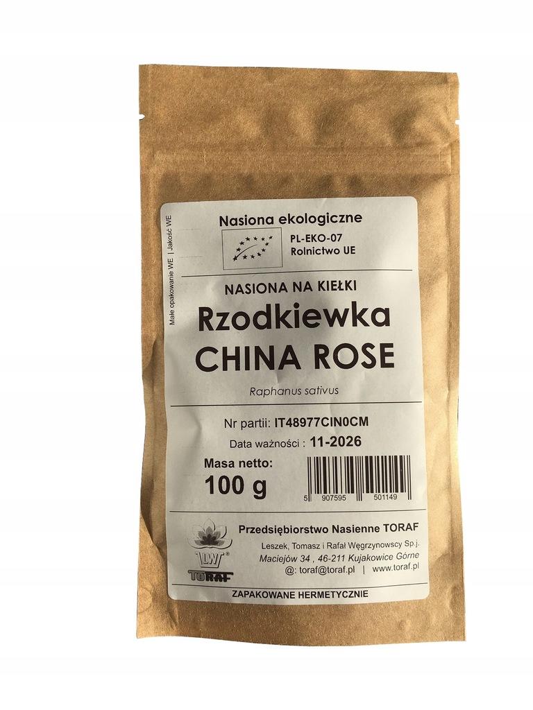 Bio nasiona na kiełki Rzodkiewka 100g cert. EKO
