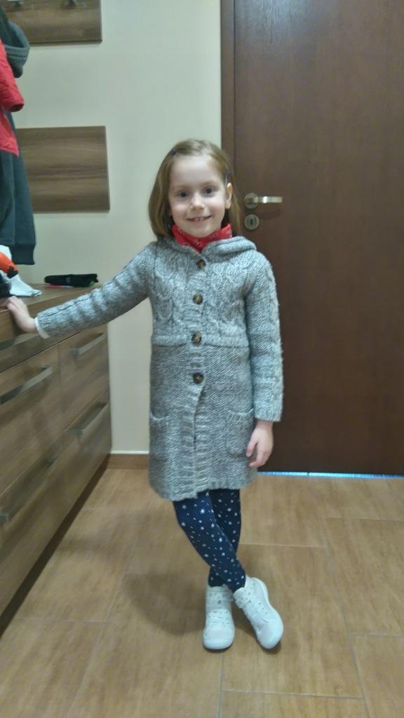 płaszcz długi dla dziecka
