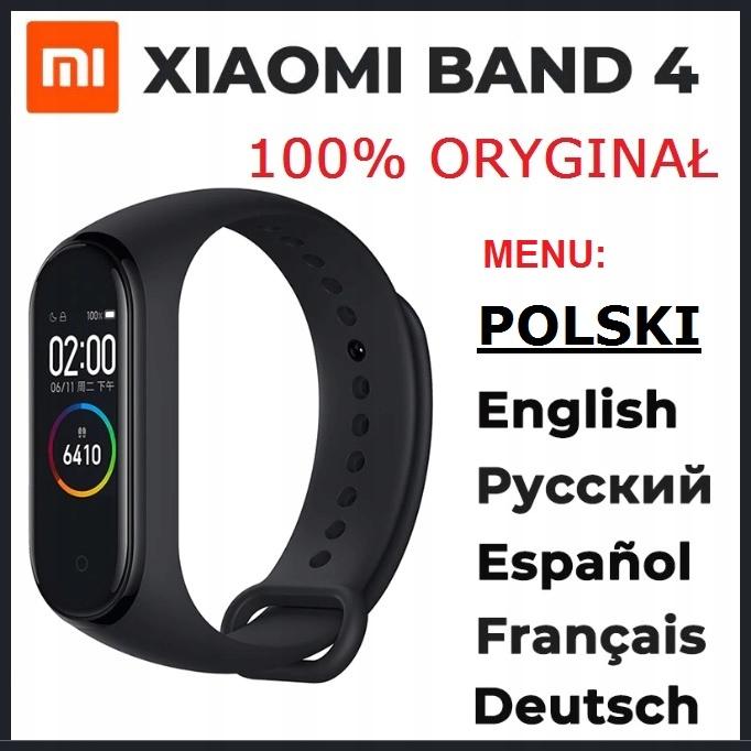 Xiaomi smart miBand 4 OPASKA SPORTOWA smartband