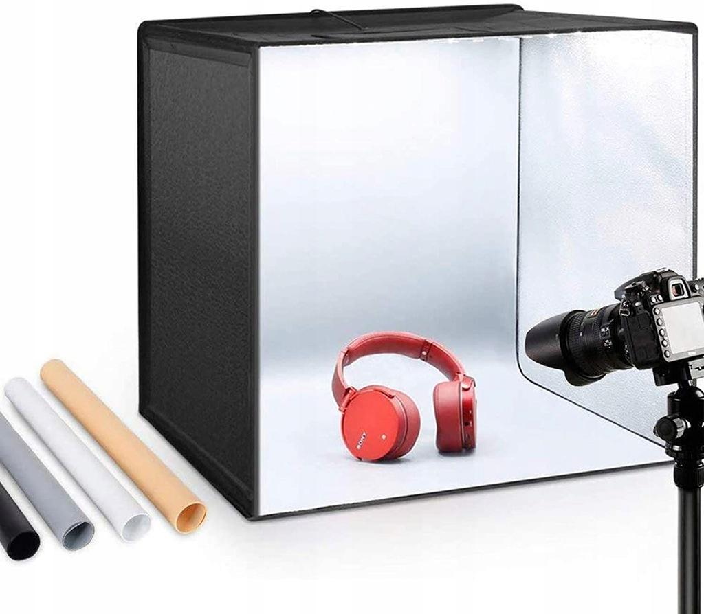 Namiot Bezcieniowy LED 50x50cm ESDDI + 4 Tła