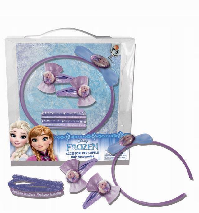 Frozen zestaw akcesoriów do włosów z opaską