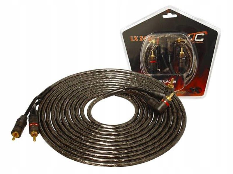 Kabel 2x RCA - 2 x RCA 5m + sterowanie wzmacniacza