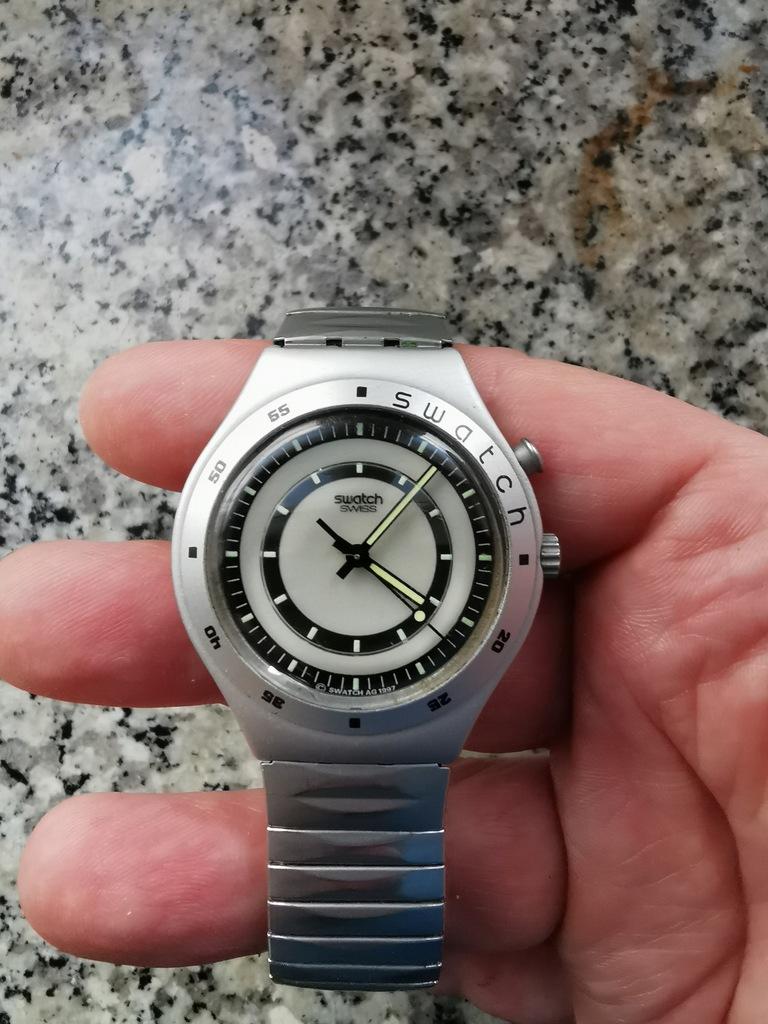 zegarek swatch irony aluminium vintage 1997