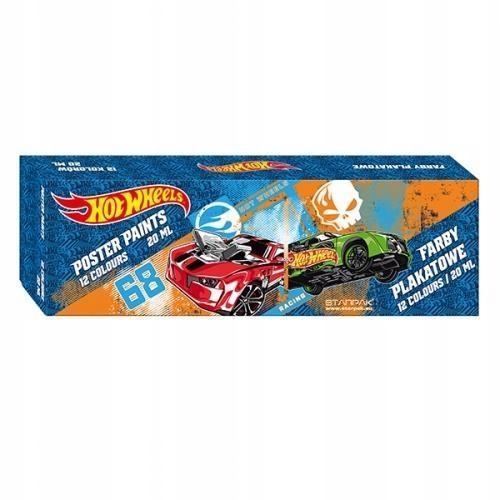 Farby plakatowe Hot Wheels 12 szt Farbki dziecięce
