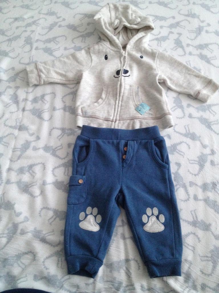 Śliczny DRES Cool Club SMYK r. 62 Bluza i spodnie