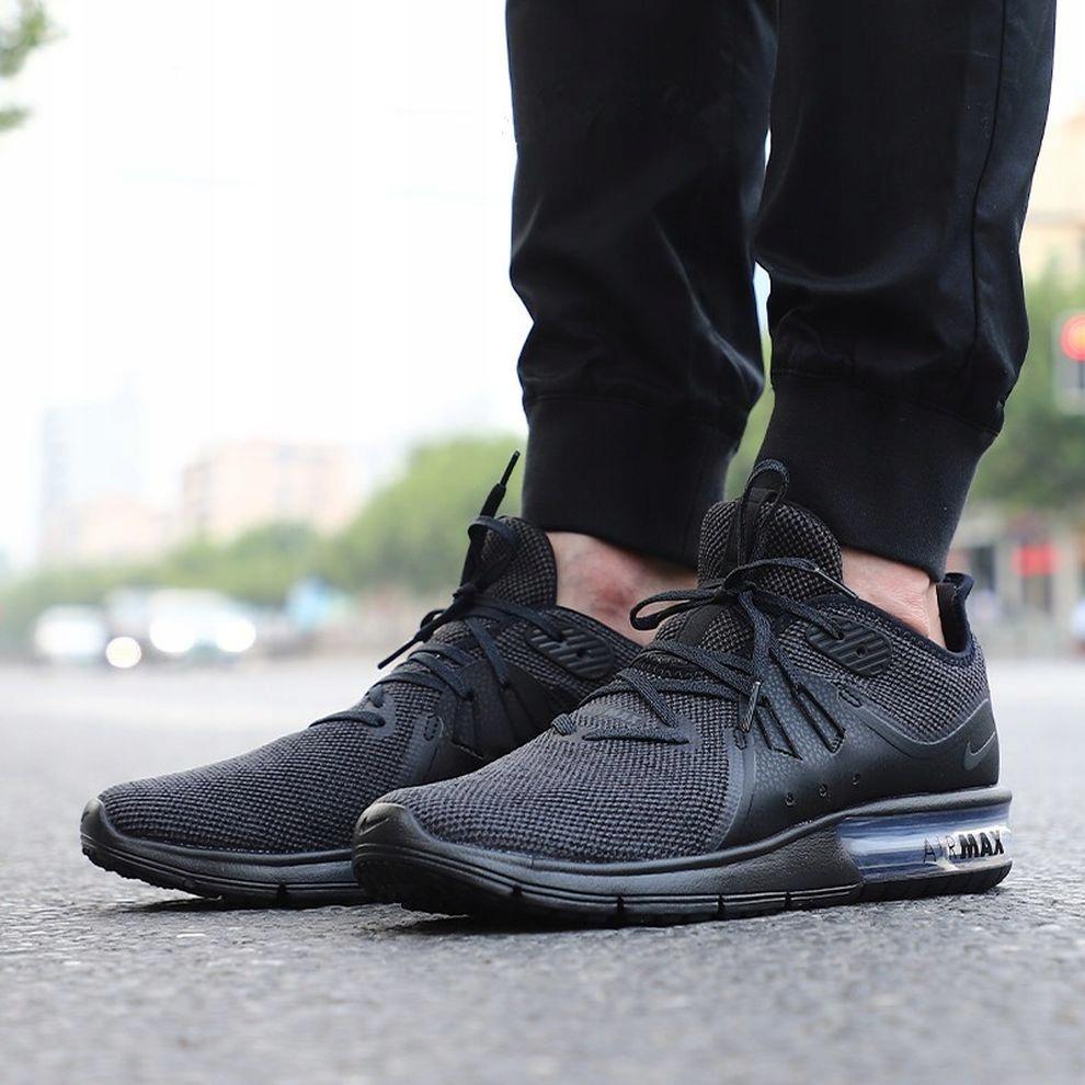 42 Buty męskie Nike Air Max Sequent 3 Czarne Lato Ceny i