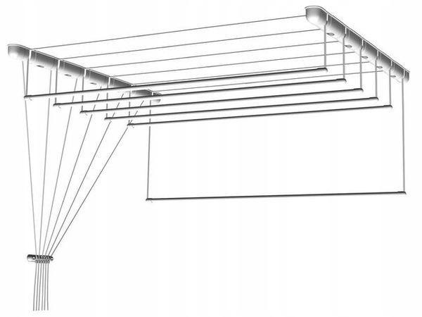 Suszarka sufitowa do bielizny 7 prętów 100x63cm
