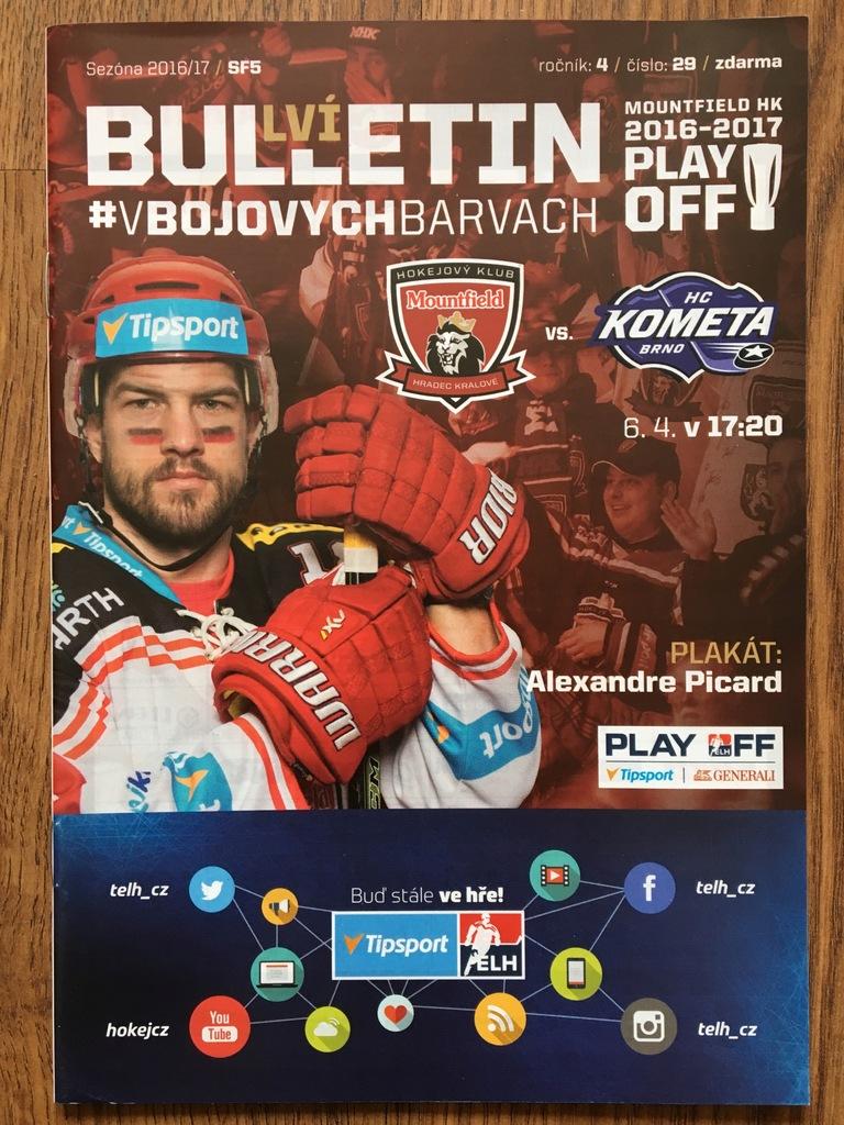 Mountfield HK - HC Kometa Brno / 6.04.2017