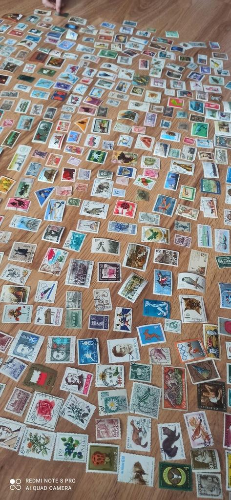 zbiór znaczków różnych 530 sztuk