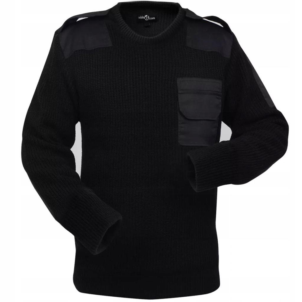 Sweter męski do pracy, czarny, rozmiar M