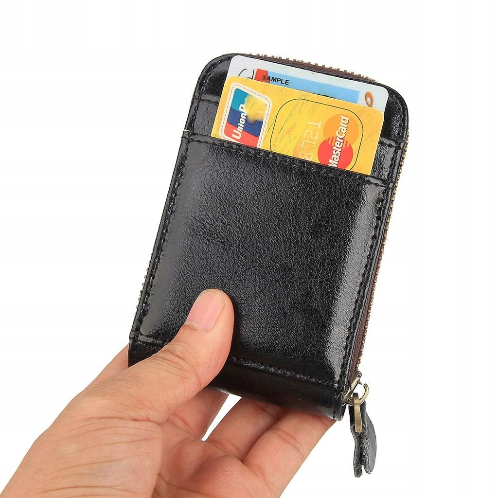 Etui na karty kredytowe RFID - czarne