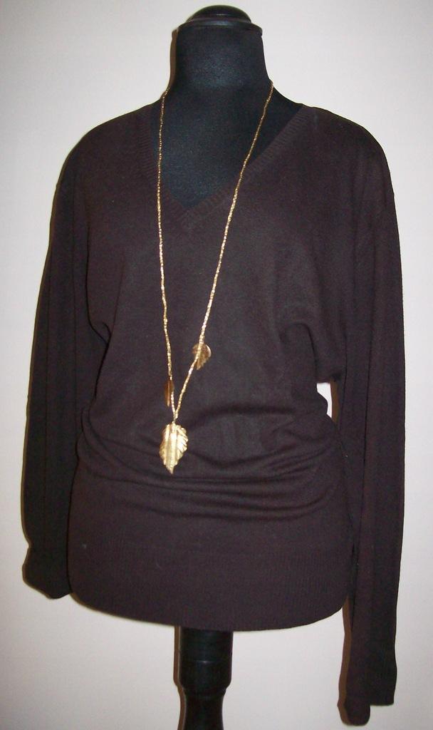 H&M - sweter ciemny brąz - r. 54-56