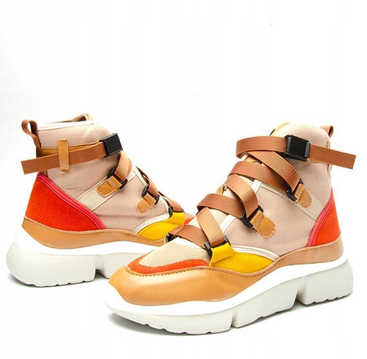 Buty damskie sneakers wysoka podeszwa platforma 37