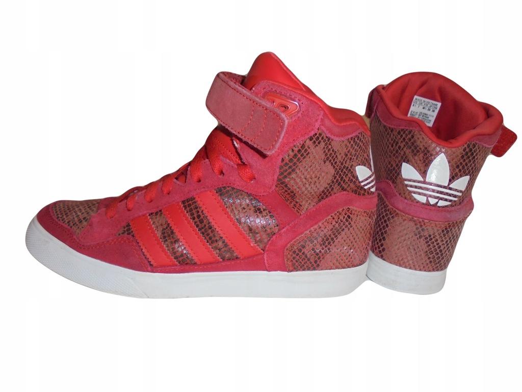 Skórzane buty Adidas. Ukryty koturn. Rozmiar 40,5.