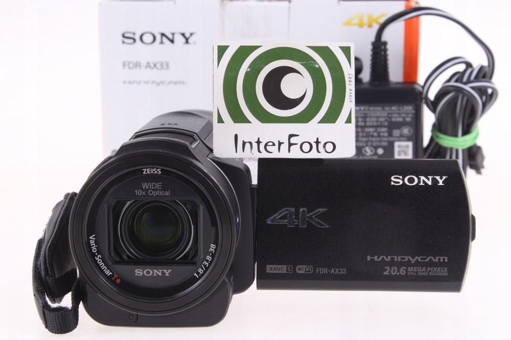 Sony FDR-AX33 kamera 4K InterFoto Wa-wa gwarancja