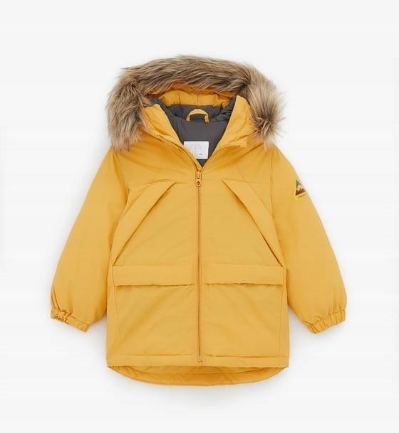 zara kurtka parka żółta 110 chłopięca