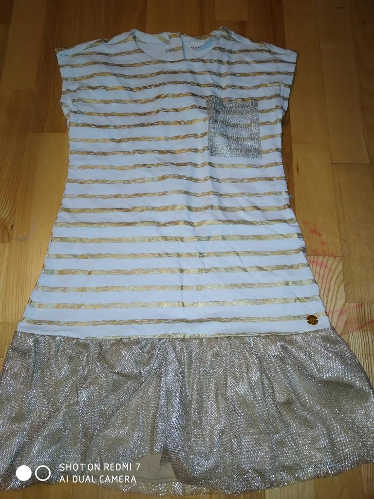 Złota sukienka Coccodrillo 134