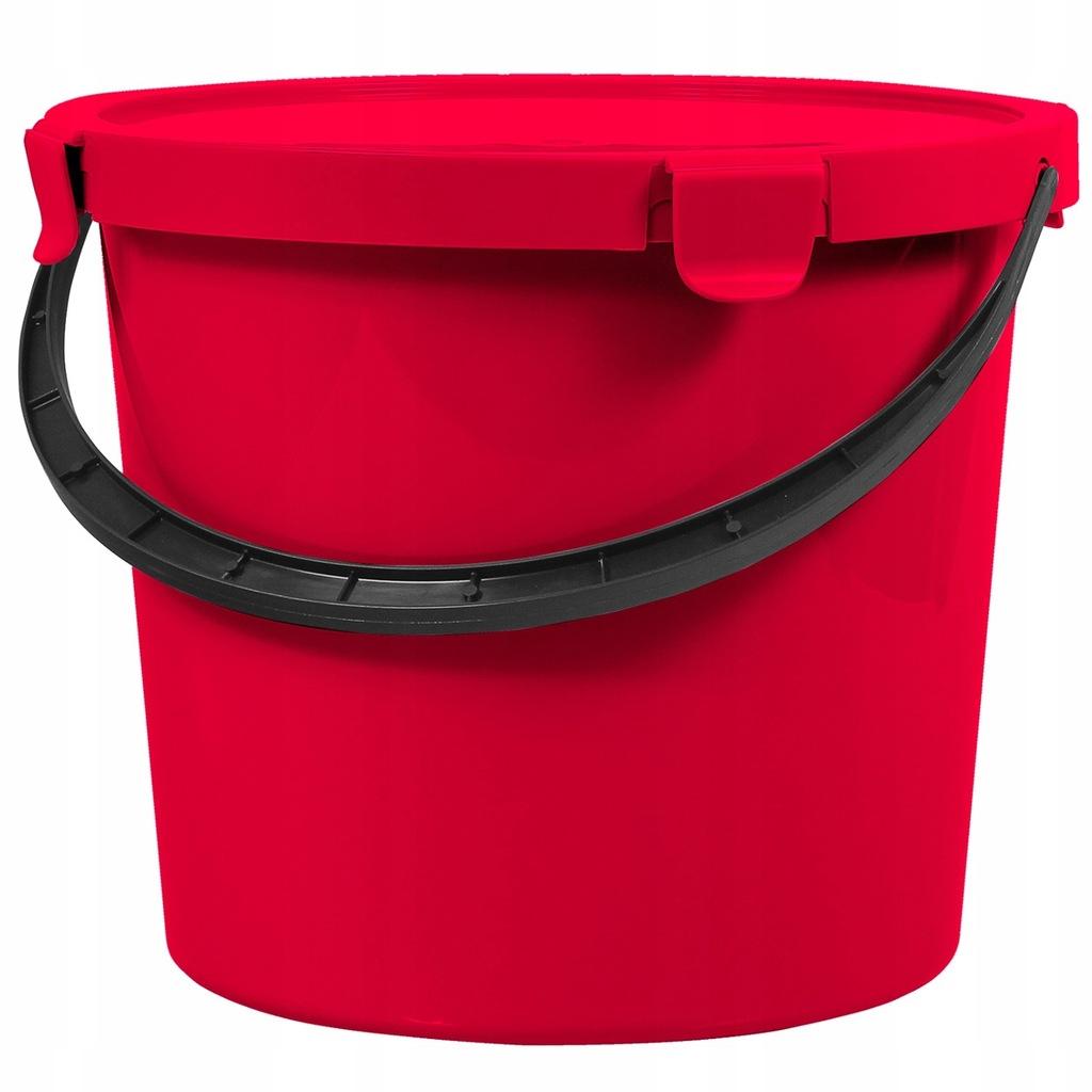 Wiadro z pokrywą Plast Team Berry 10L czerwone