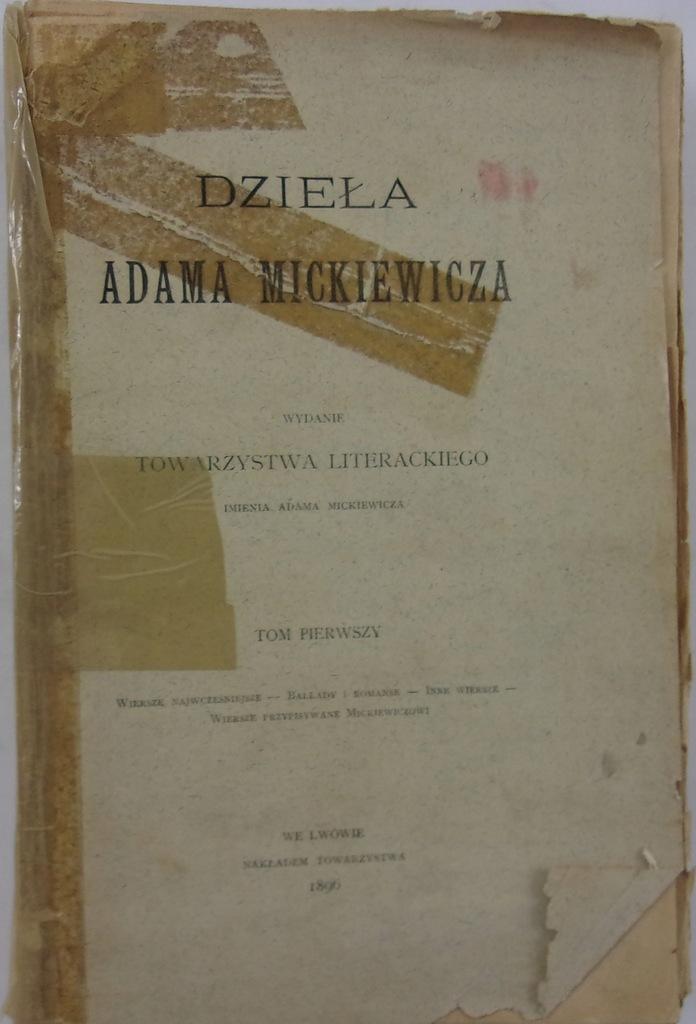 Dzieła Adama Mickiewicza 1996 r.