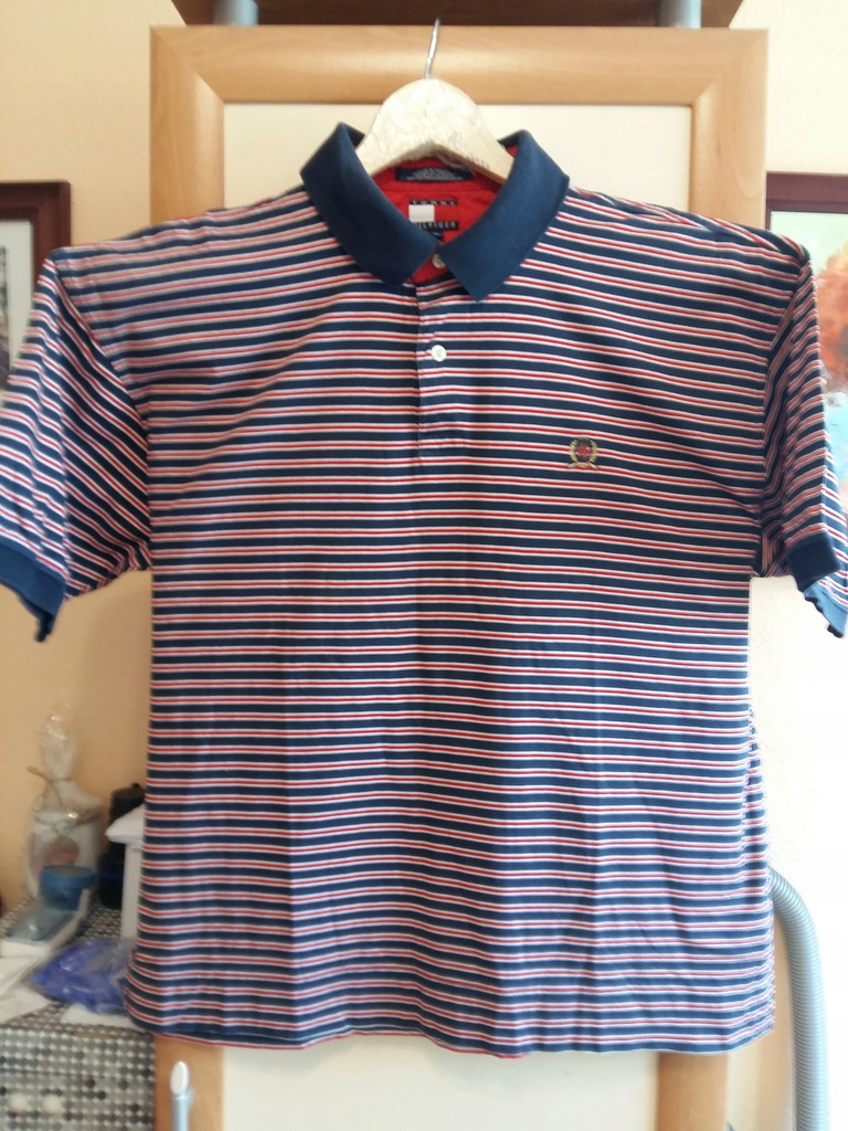 Koszula męska z kr. ręk. TOMMY HILFINGER . XL