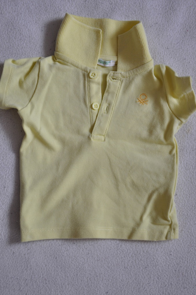 BENETTON - T-shirt polo 56 cm (1-3 m-cy) stan BDB