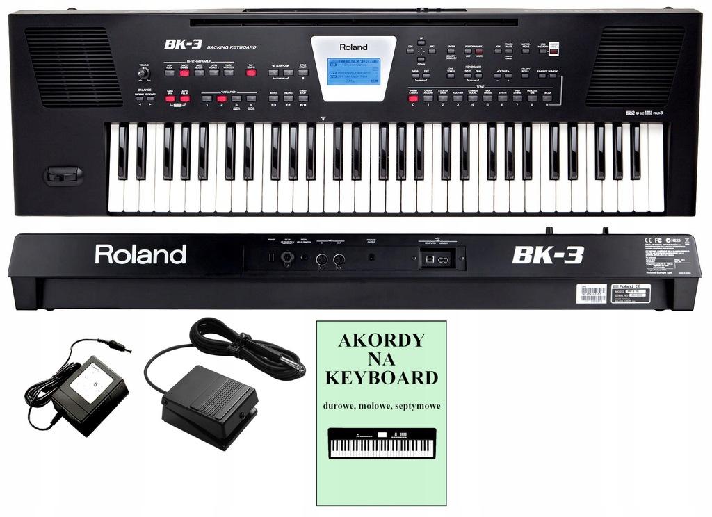 ROLAND BK-3 Profesjonalny keyboard + Pedał