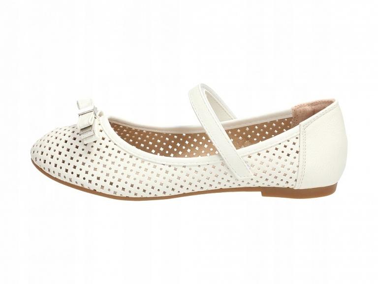 Białe balerinki, buty dziecięce BADOXX 489 r28