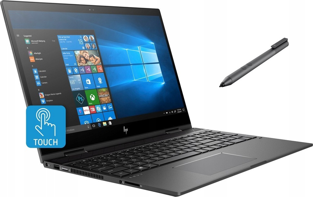 HP ENVY 15 x360 i7-8565U 16GB 512GB SSD MX150 Pen