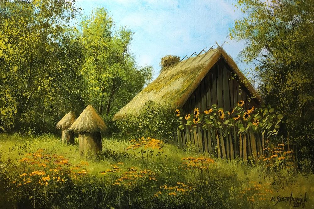 M.Szczepaniak `Zapomniany ogród` 60x40 cm