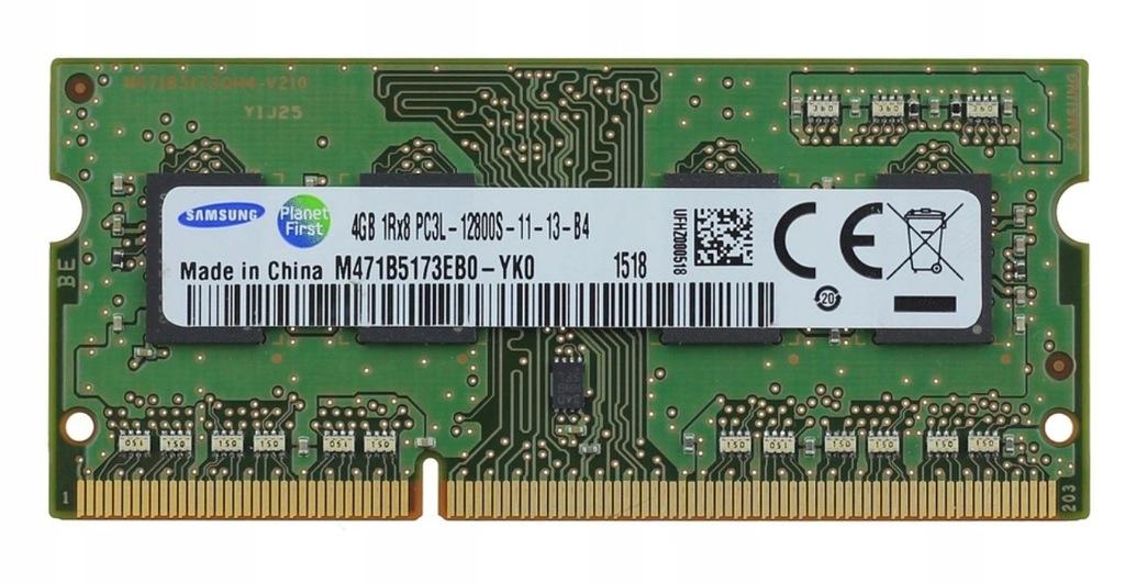 SAMSUNG 4GB SODIMM DDR3L 1600MHz 1,35V DO LAPTOPA