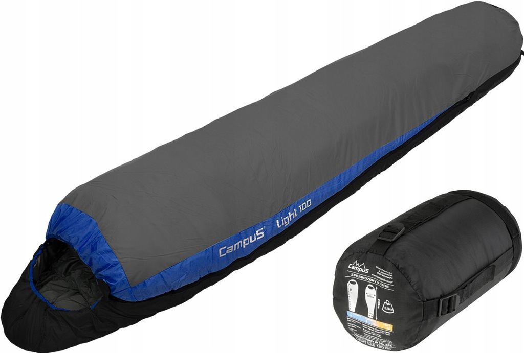 CAMPUS ULTRALEKKI ŚPIWÓR LIGHT BAG 150 MUMIA 1,0kg