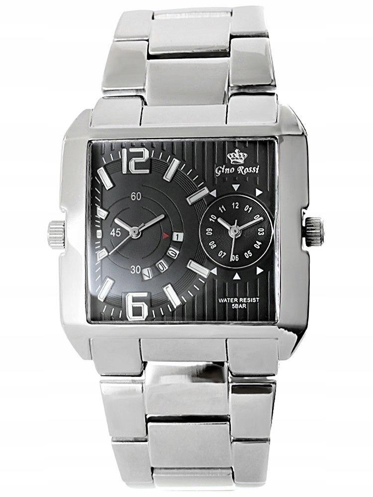 Zegarek Męski Gino Rossi DUAL TIME 8627B-1C1