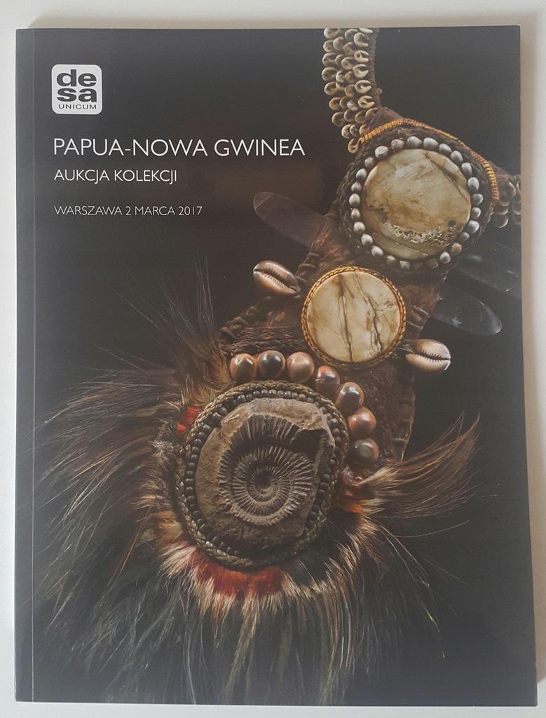 katalog aukcyjny kolekcji masek PAPUA NOWA GWINEA