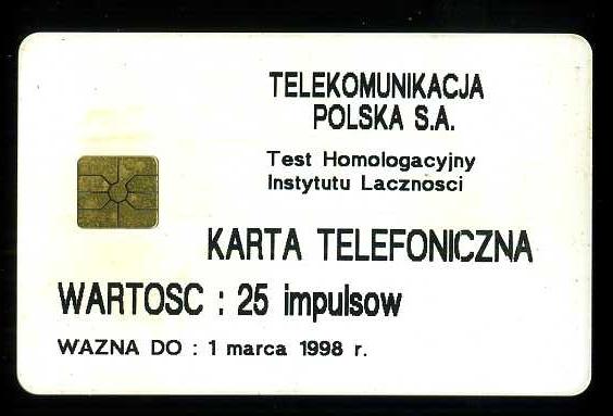 KARTA TELEFONICZNA - ZUŻYTA