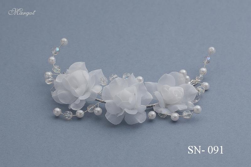 Stroik ślubny SN091 - fryzury ślubnej, głowę