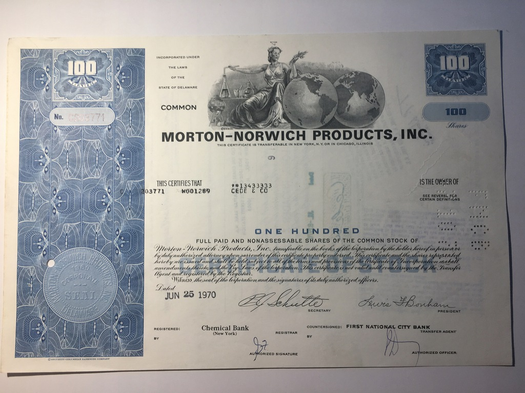 MORTON - NORWICH PRODUCTS