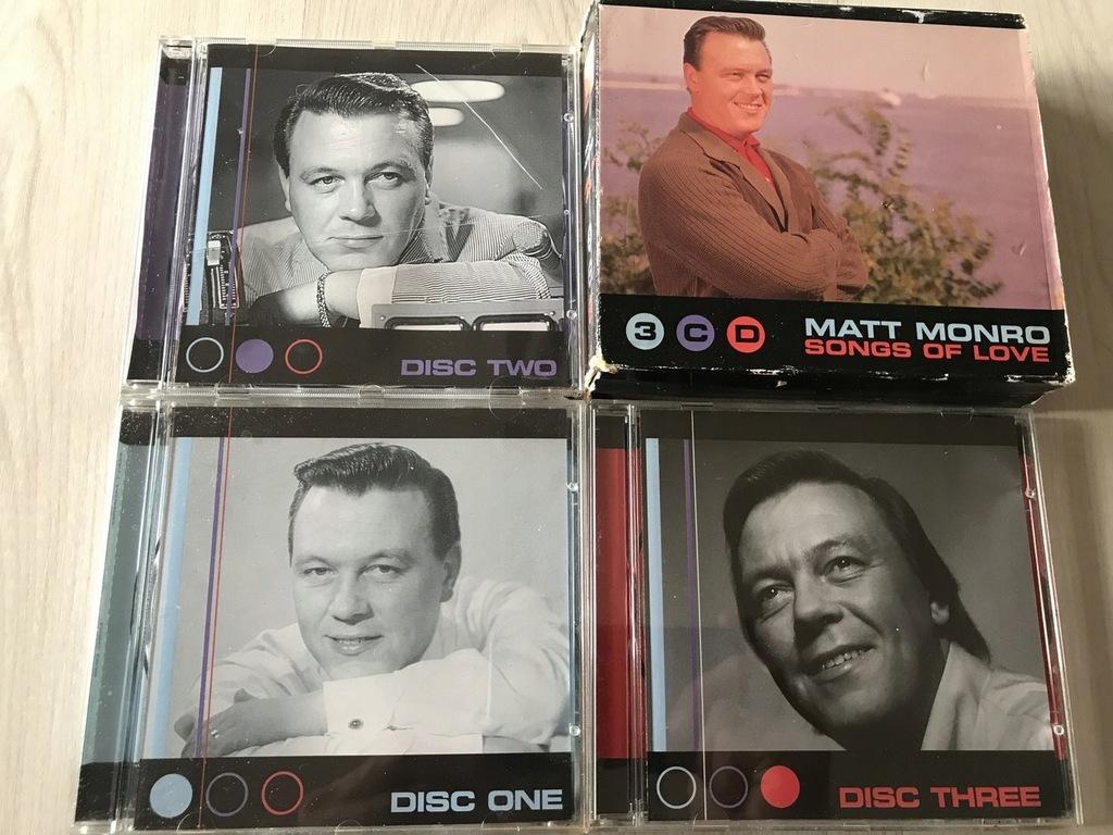 3CD Matt Monro Songs Of Love STAN 5+ 4+/6