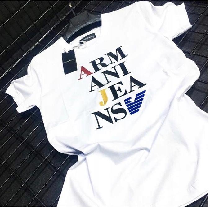 Giorgio Armani - T-shirt męski - Rozmiar M