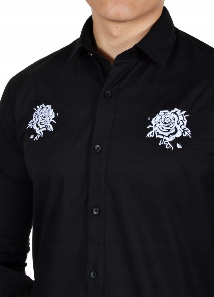 Koszula Męska Casual Przedłużana Wyszywana Nowość