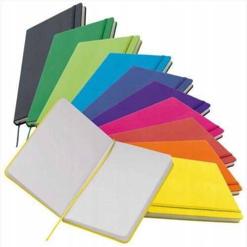 NOTES A5 Z GUMKĄ 10 kolorów Prezent Latarka gratis